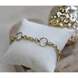 Bracelet en or jaune ronds