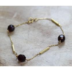 Bracelet en or jaune avec Boules