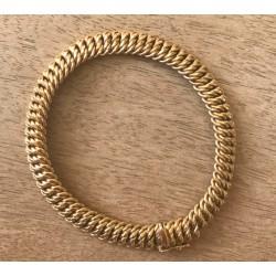 Bracelet Maille americaine en or jaune