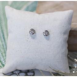 Boucles d'oreille Or blanc et Diamants