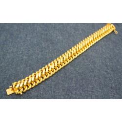 Bracelet Maille Amricaine en or jaune 18k