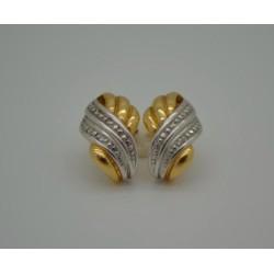 Boucles d'oreilles Or jaune avec Eclats de Diamants