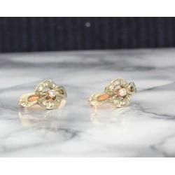 Boucles d'oreille Anciennes avec Diamants