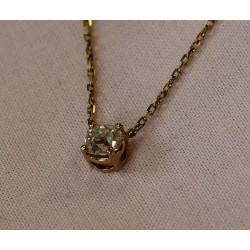 Collier en Or jaune avec Diamant de O,75carats