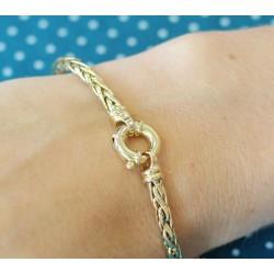 Bracelet en Or jaune 18k maille Palmier