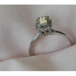 Bague Fleur en Diamants