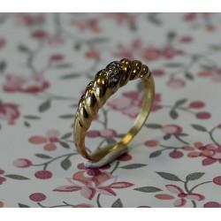 Bague Anneau Or jaune avec Diamants