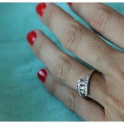 Bague en or blanc et Diamants