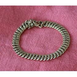 Bracelet Maille Americiaine en Or jaune
