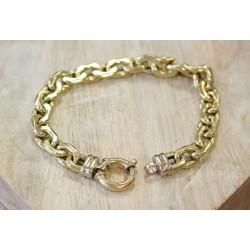 Bracelet en or jaune Maille Forcat Large