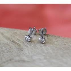 Boucles d'oreille Puces Diamants