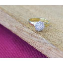 Bague Chou en Or jaune et Diamants
