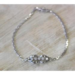 Bracelet en or Blanc avec Diamants
