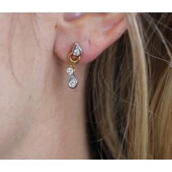 Boucles d'oreille pendantes avec Diamants