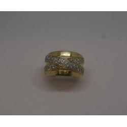 Bague en or jaune pavage Diamants