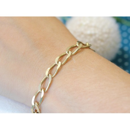 Bracelet Maille Cheval en Or jaune