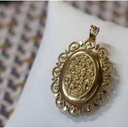 Médaillon Porte photo en Or jaune