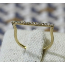 Bague Messika Gatsby en Or jaune avec diamants