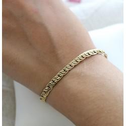 Bracelet en Or jaune Maille Haricot