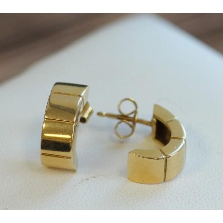 Boucles d'oreille Demi créoles en Or jaune