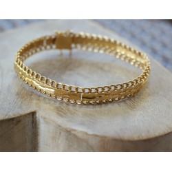Bracelet semi rigide Ruban en Or jaune