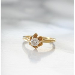 Bague Solitaire de 0,33ct en Or jaune