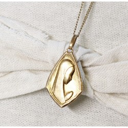 Collier Vierge Marie en Or jaune