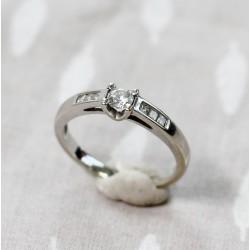 Bague en Or blanc avec Diamant de 0,175ct