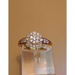 Bague Chou en Or jaune avec Diamants