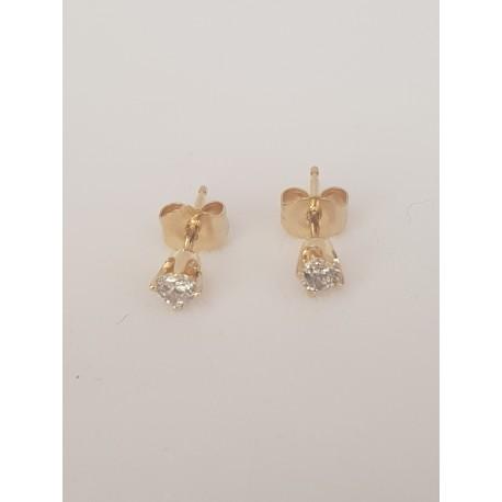 Boucles d'oreille en Or jaune et Diamants