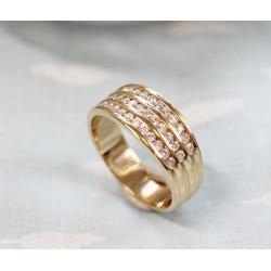 Bague en Or jaune avec Diamants