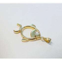 Pendentif Poisson en Or jaune avec diamant