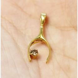 Pendentif en Or jaune avec diamant