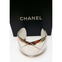 Bracelet Manchette Chanel Coco Crush en Or blanc