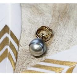 Pendentif en Or jaune avec Perle de Tahiti