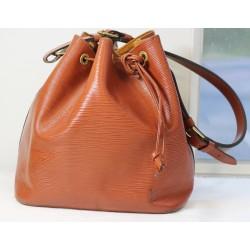 Sac cabas Louis Vuitton petit Noé petit modèle en cuir épi marron-caramel