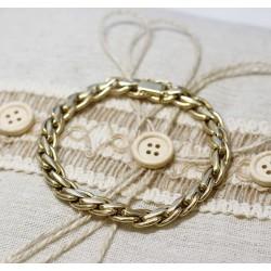 Bracelet Maille Tressé en Or jaune