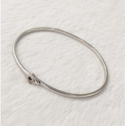 Bracelet Jonc en Or blanc avec diamant