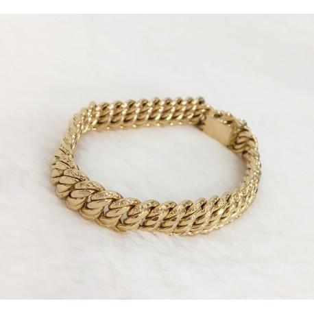 Bracelet maille Forçat en Or jaune