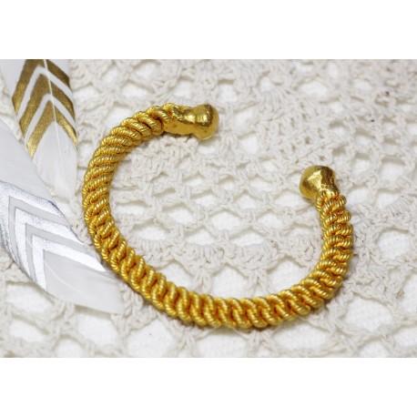 Bracelet Jonc en Or pur 24k