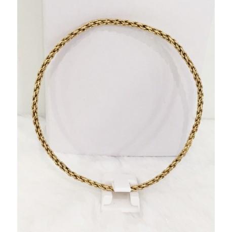 Bracelet Maille Tressée en Or jaune