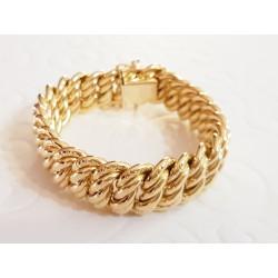 Bracelet Maille Américaine en Or jaune