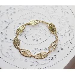 Bracelet maille Filigrane en Or jaune