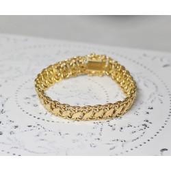 Bracelet Ruban en Or jaune maille fantaisie