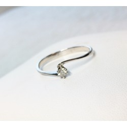 Bague en Or blanc avec Diamant 0,10ct