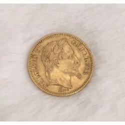 Pièce 20 Francs en Or Napoléon III 1865