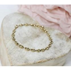 Bracelet Grain de Café en Or jaune