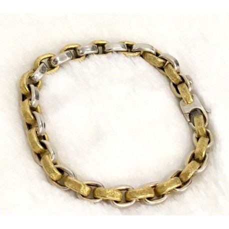 Bracelet bicolore or jaune et or blanc