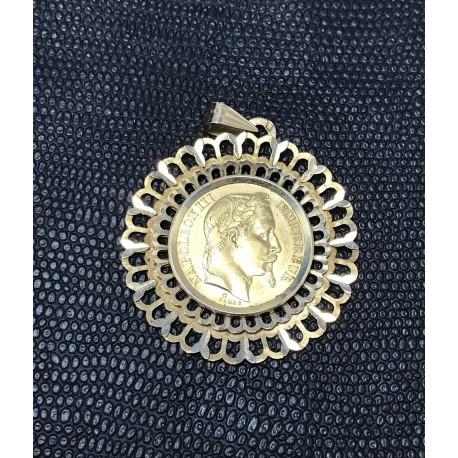 Pendentif Médaillon Napoléon III 1867