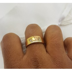 Bague 2 ors en or jaune et pavage diamants